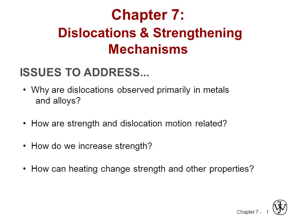 Chapter 7 Dislocations Amp Strengthening Mechanisms Ppt