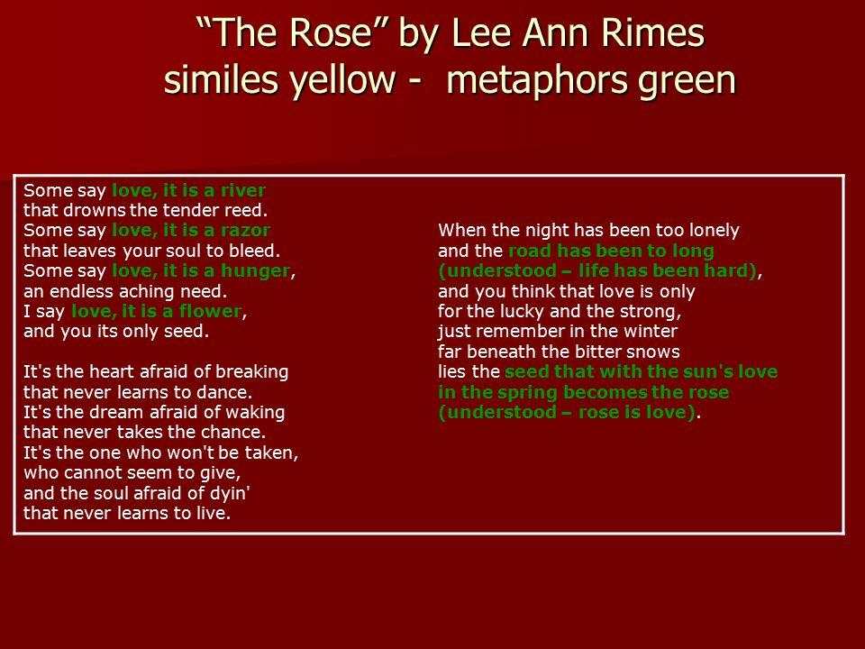 Similes Metaphors Ppt Video Online Download