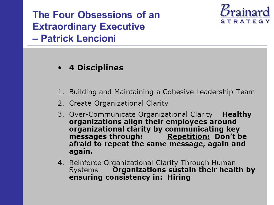 the four obsessions of an extraordinary Find helpful customer reviews and review ratings for the four obsessions of an extraordinary executive: a leadership fable at amazoncom read honest and unbiased product reviews from our users.