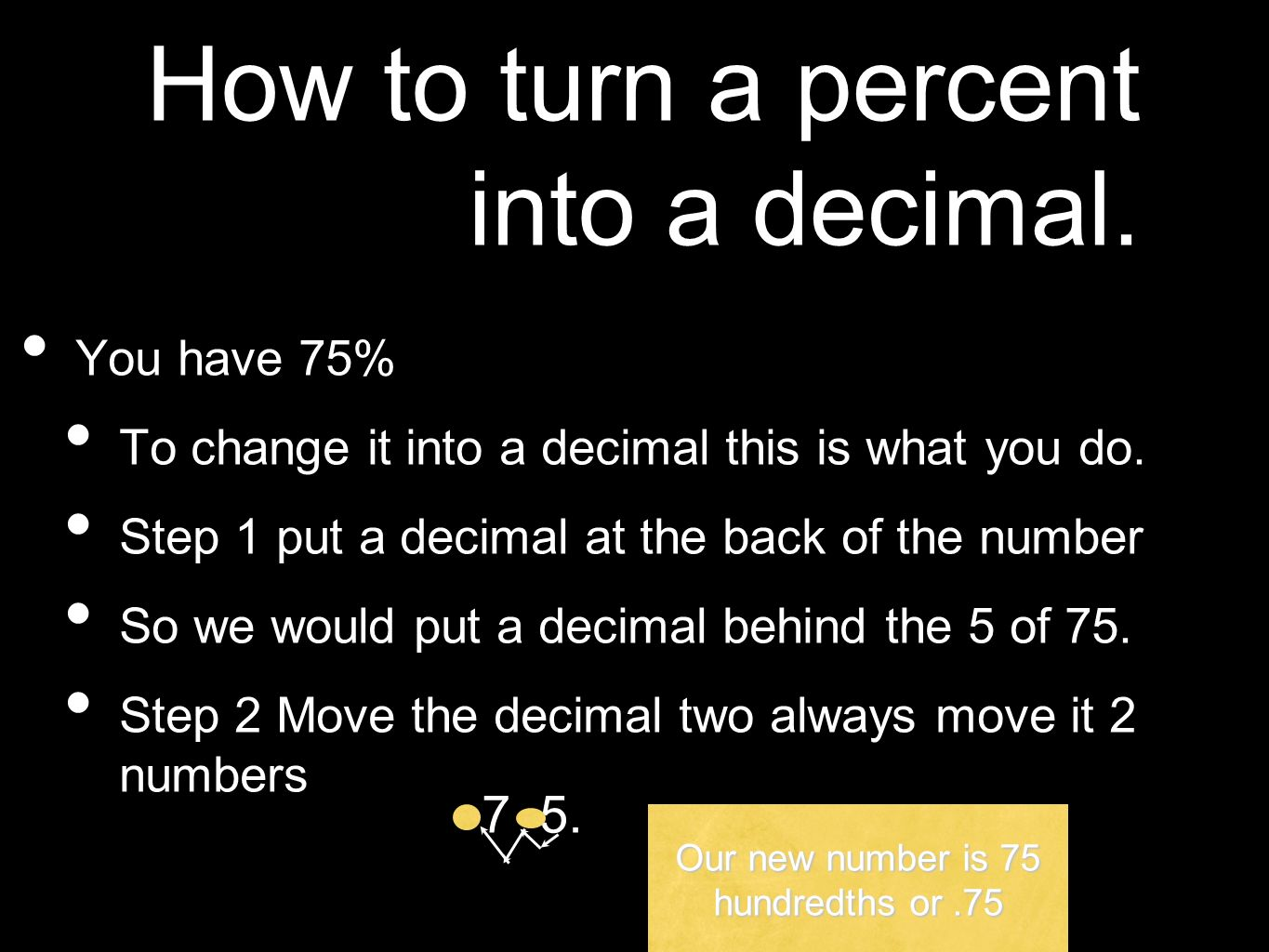 Turning Decimals Into Percents Free Worksheets Percents