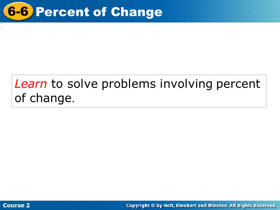 How To Solve Percentages Problems