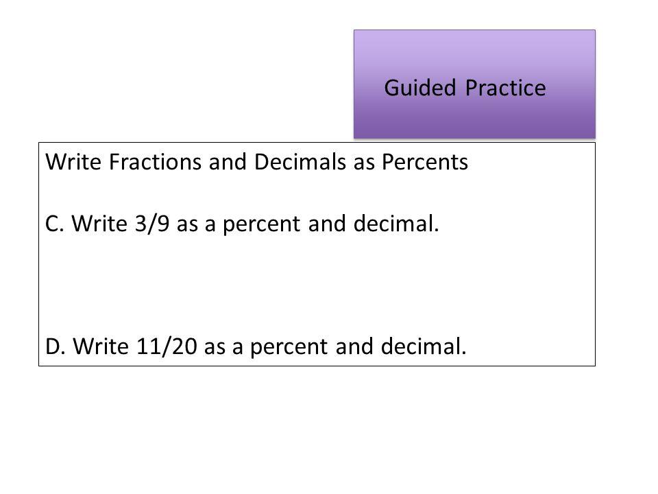 Fractions, Decimals, and Percents - ppt download