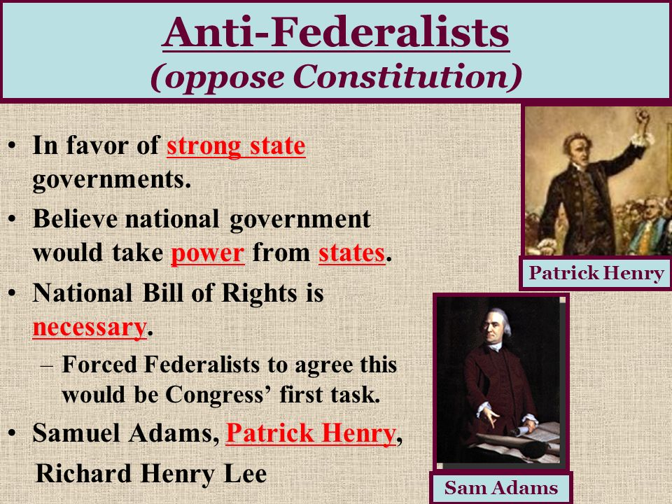 essays were written defend constitution
