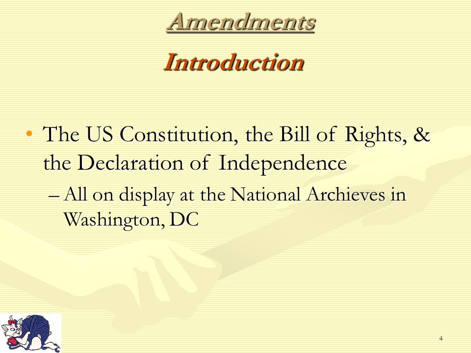 an introduction to the declaration of independence and the constitution rights in the united states The declaration of independence gave birth to what is known today as the united  states of america  today we can see the effects of the first sentence written in  the preamble: we  had a profound effect upon the bill of rights and the  constitution  the bill of rights in the united states is the name by which the  first ten.