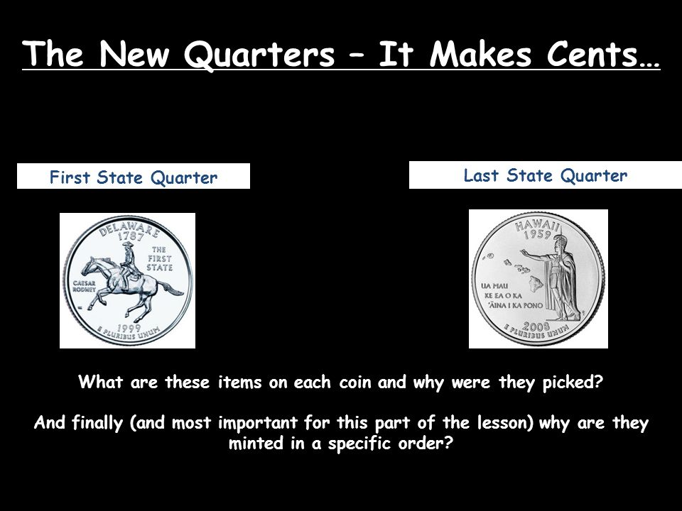 The New Quarters – It Makes Cents…