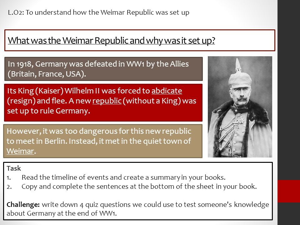an overview of the collapse of the weimar republic in 1934 Many have seen the fall of the weimar republic as inevitable,  under the 1934  'enabling act', hitler was made the undisputed leader of the.
