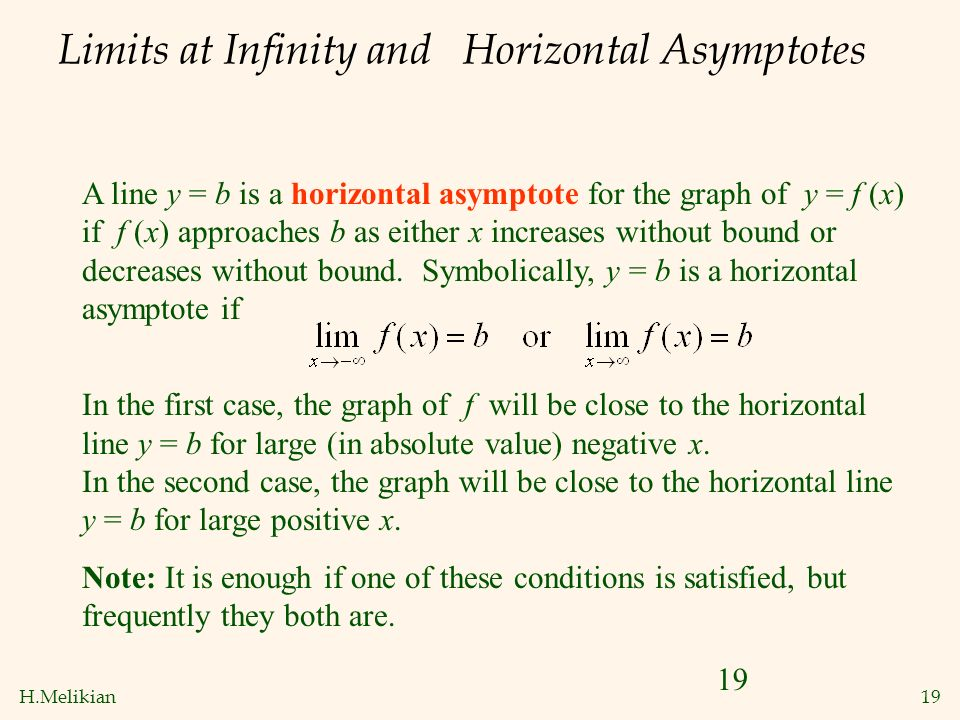 102 infinite limits and limits at infinity ppt video online limits at infinity and horizontal asymptotes ccuart Choice Image