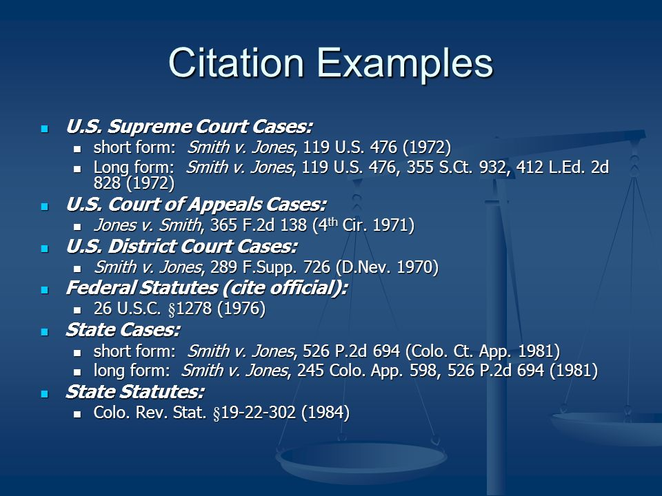 Citation = Case Address - ppt download
