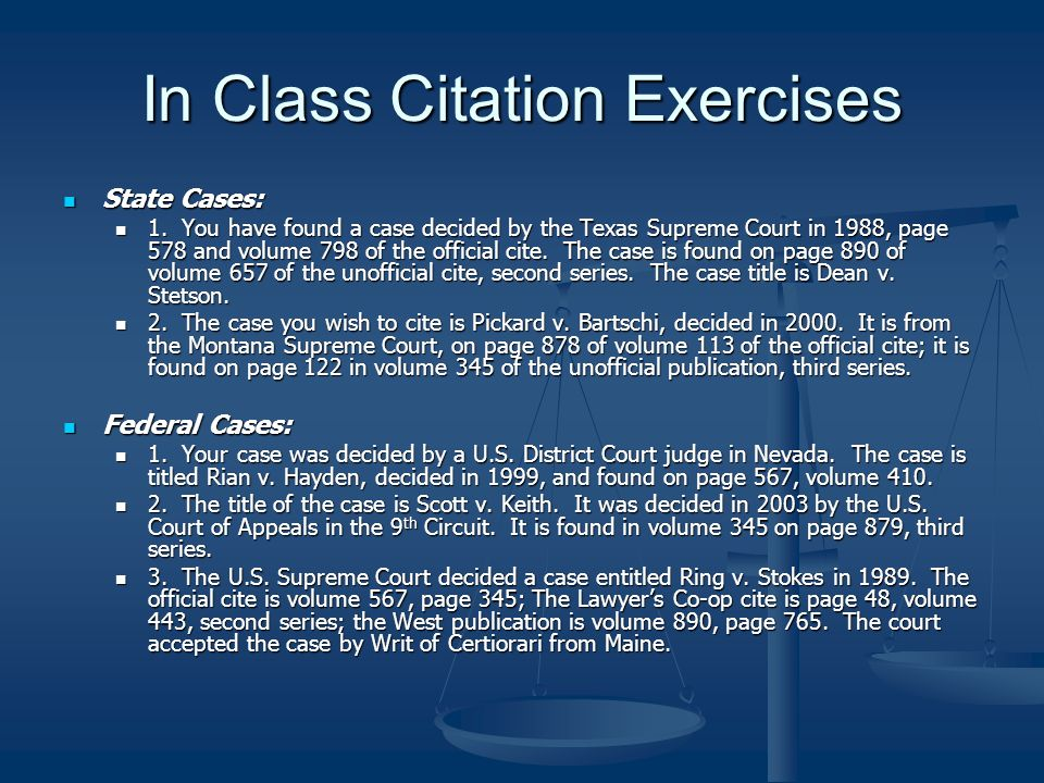 legal citation inclass exercise 1 2 Legal skills  for law school & legal practice by  it is an exercise in critical thinking, as are during class, non‐critical student listeners.