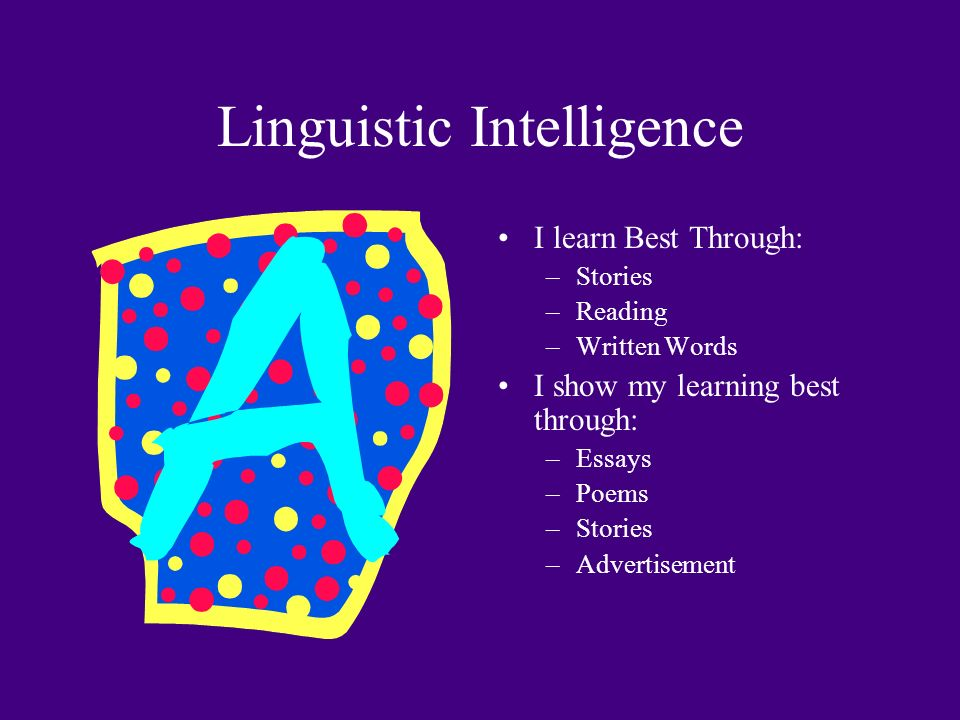 linguistic intelligence examples