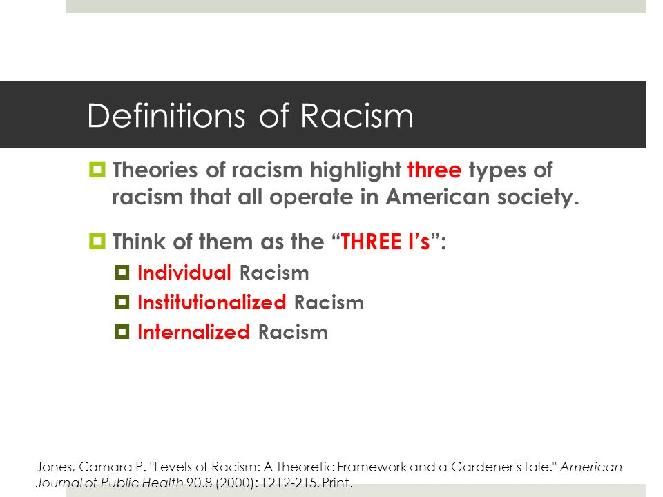 an analysis of the racism in the american society Question 17 female-headed households tend to be poor because: selected answer: all of the above answers: lower wages paid to women in general and to african.