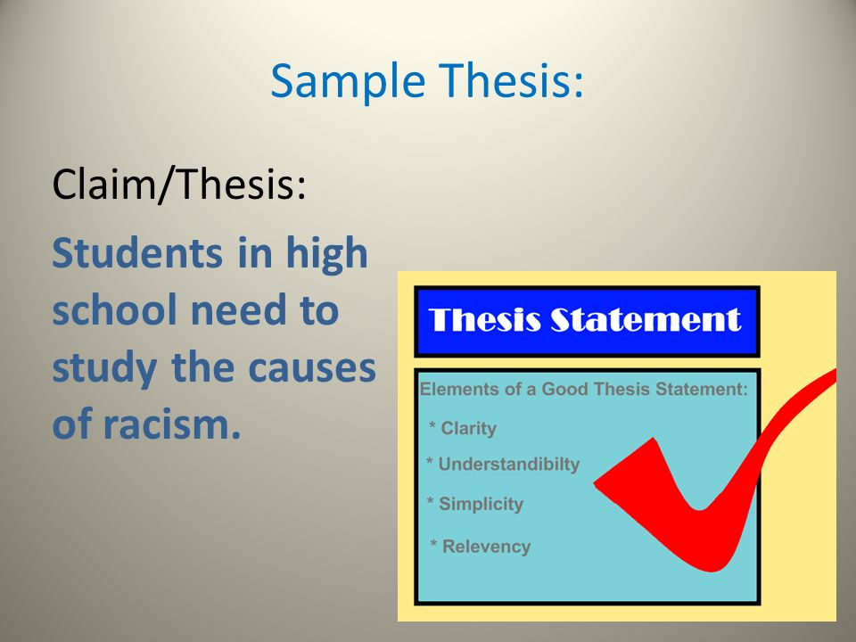 claims thesis The skill of crafting an effective claim or thesis this set of templates will help  students practice this skill modeling, independent practice, and corrective  feedback.