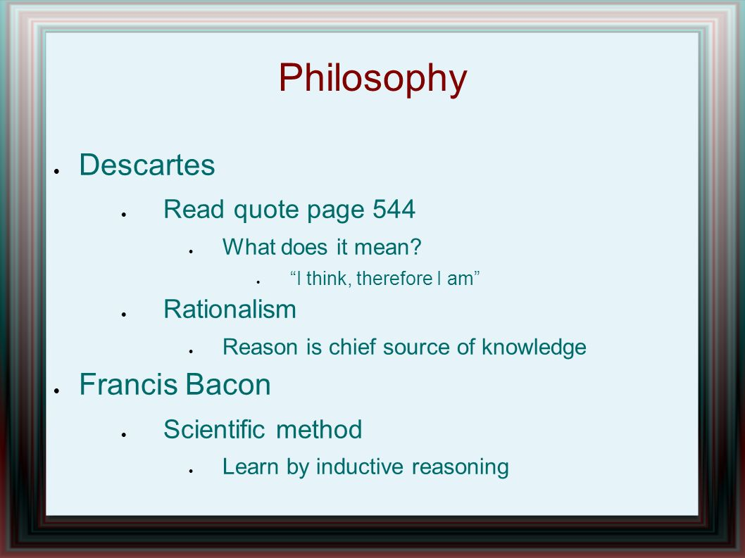 "Analysis & Meaning of The Building Metaphor in ""Discourse on Method"" by Descartes"