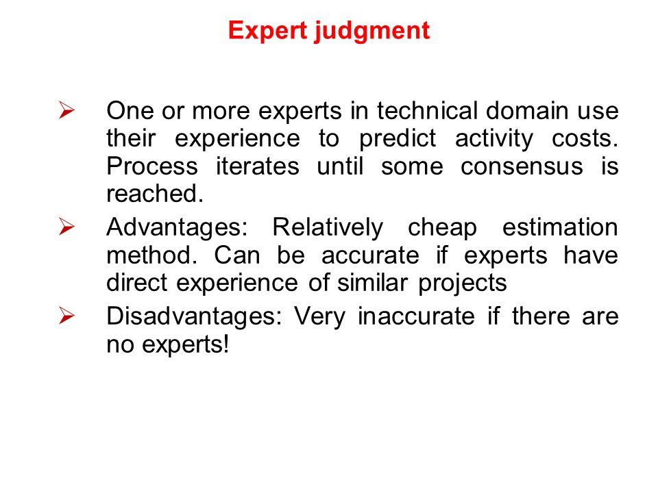 expert judgement in project management pdf