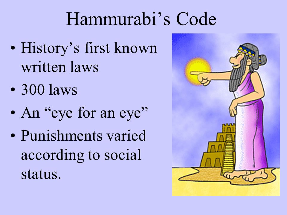 history hammurabi s code Start studying hammurabi (history) learn vocabulary, terms, and more with flashcards, games, and other study tools.