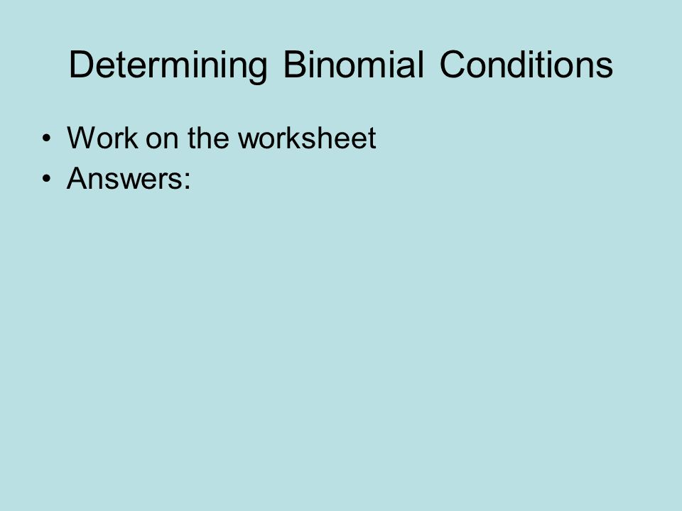 binomial distribution worksheet Termolak – Binomial Probability Worksheet