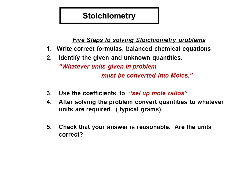Stoichiometry problems Custom paper Sample - July 2019
