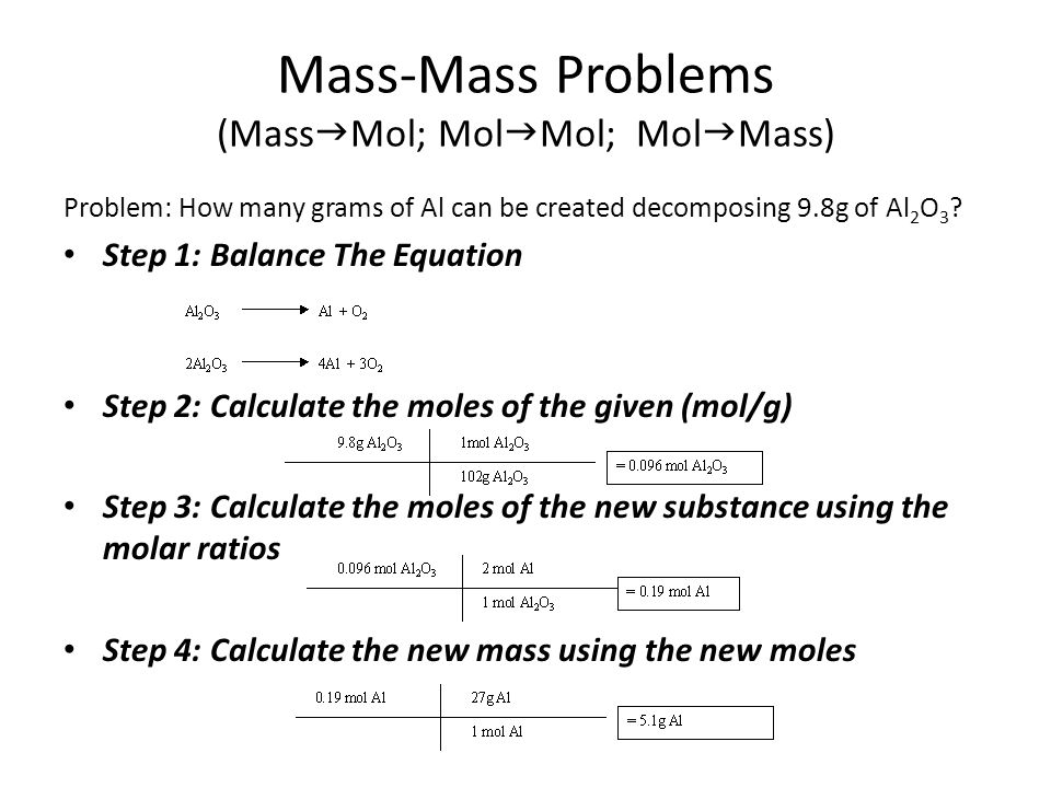 stoichiometry problems At the completion of this episode's lesson(s), you should be able to: • calculate the percent yield for a chemical reaction.