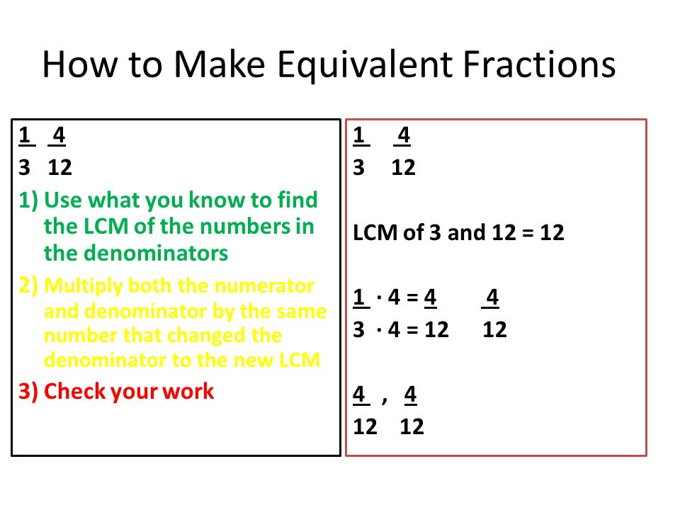 4-7 6th grade math Equivalent Fractions. - ppt video online download