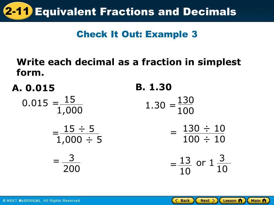 Fractions: Reducing to Simplest Form