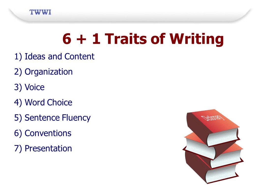 6 traits of writing organization