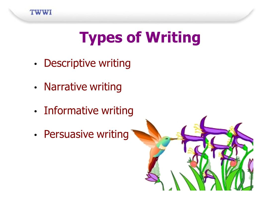 types of narrative writing Narrative forms have been subject to classification by literary theorists, in  particular during the  epic – a very long narrative poem, often written about a  hero or heroine and their exploits  types of fiction with multiple endings form.