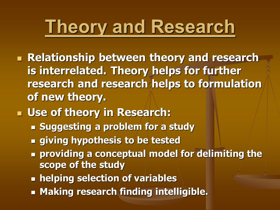 relationship between theory and research ppt