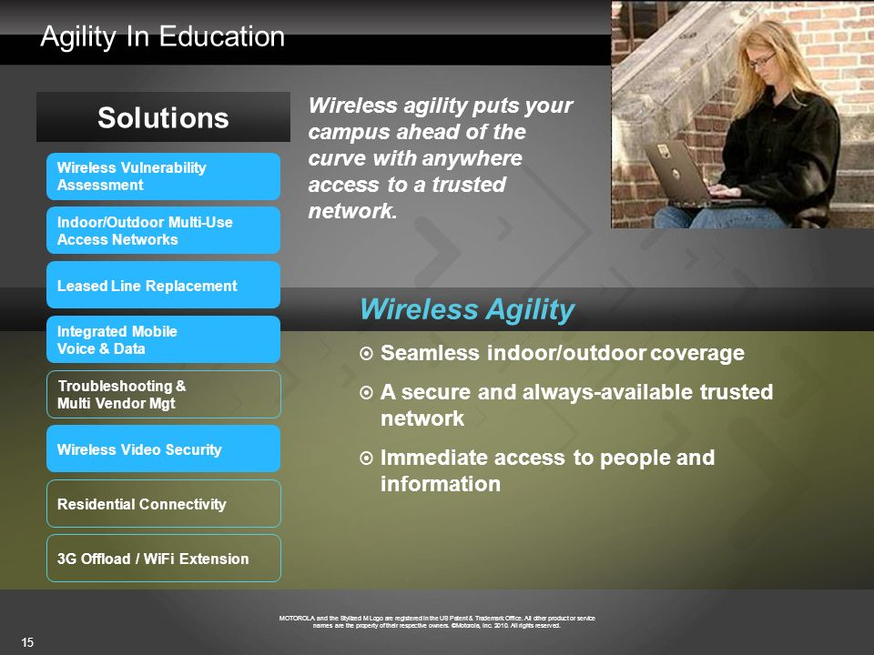 Agility In Education Solutions Wireless Agility
