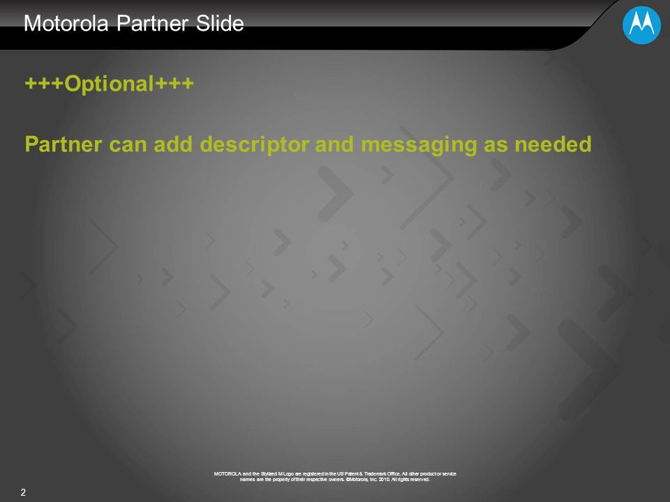 Motorola Partner Slide