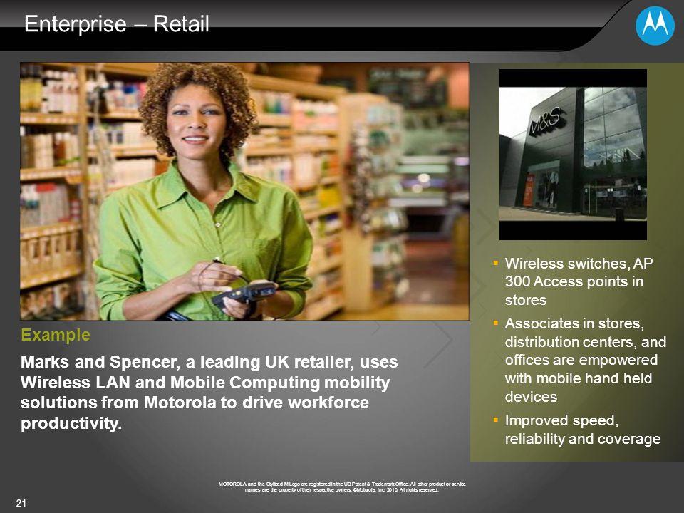 Enterprise – Retail Example