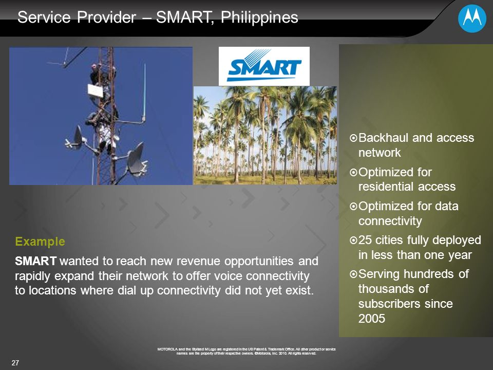 Service Provider – SMART, Philippines