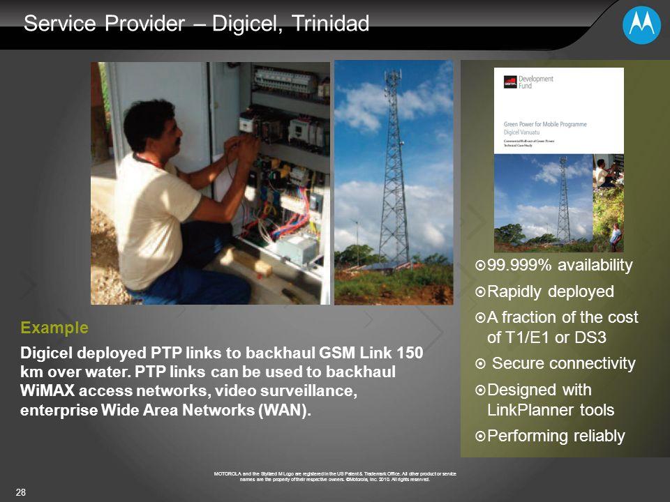 Service Provider – Digicel, Trinidad