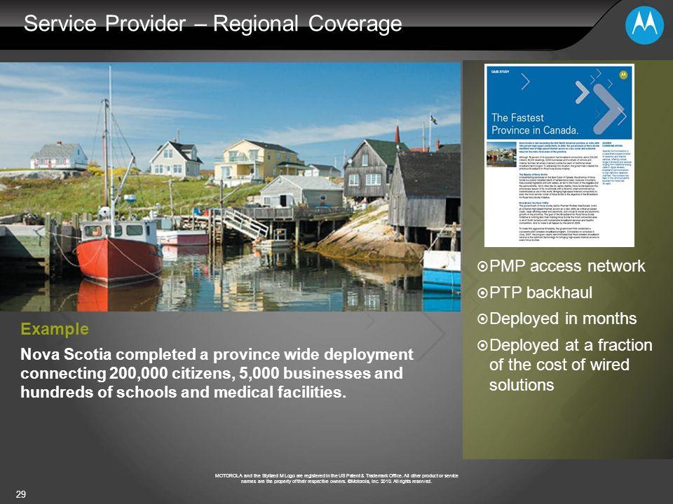 Service Provider – Regional Coverage