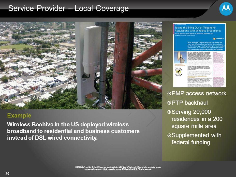 Service Provider – Local Coverage