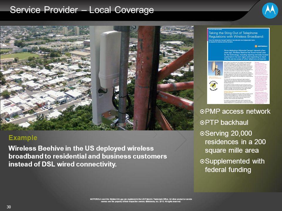 Service Provider – Local Coverage