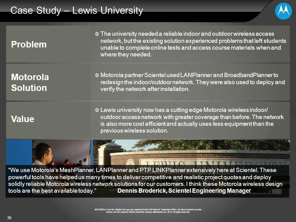 Case Study – Lewis University