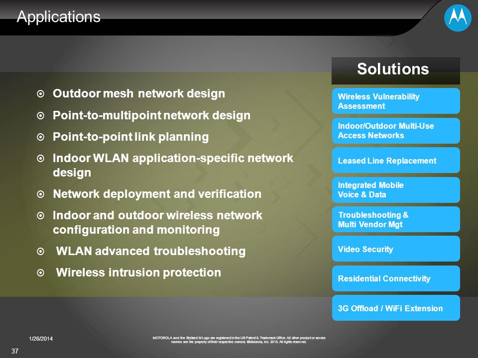 Applications Solutions Outdoor mesh network design