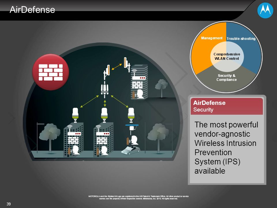 AirDefense AirDefense. Security. The most powerful vendor-agnostic Wireless Intrusion Prevention System (IPS) available.