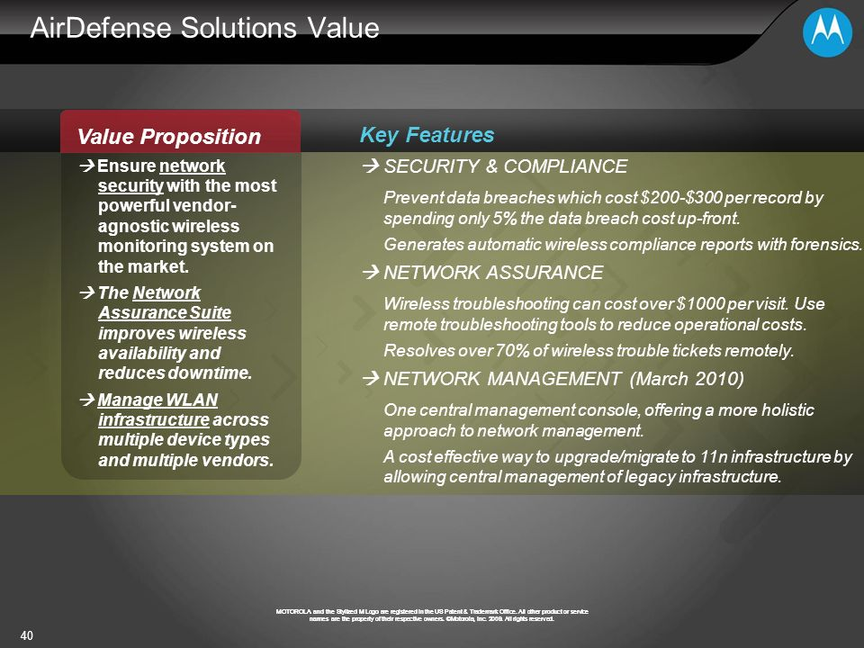 AirDefense Solutions Value