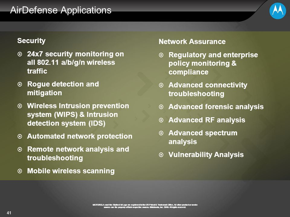AirDefense Applications
