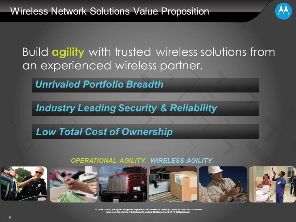 Wireless Network Solutions Value Proposition