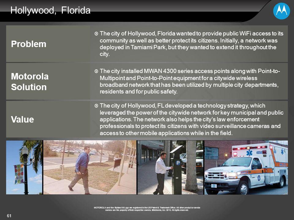 Hollywood, Florida Problem Motorola Solution Value
