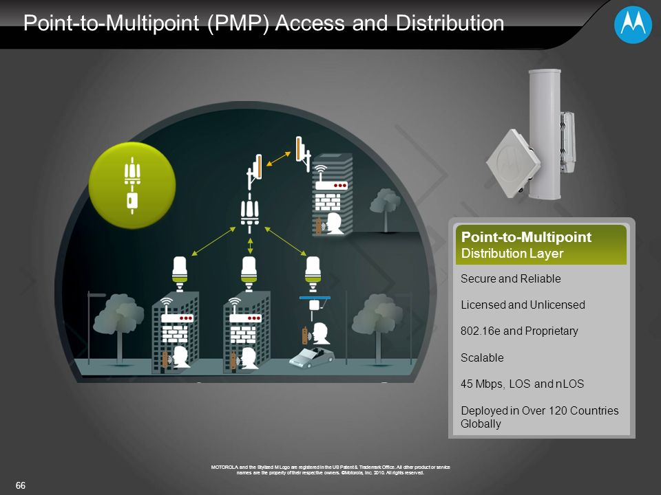 Point-to-Multipoint (PMP) Access and Distribution