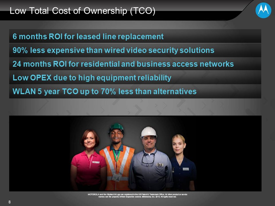 Low Total Cost of Ownership (TCO)