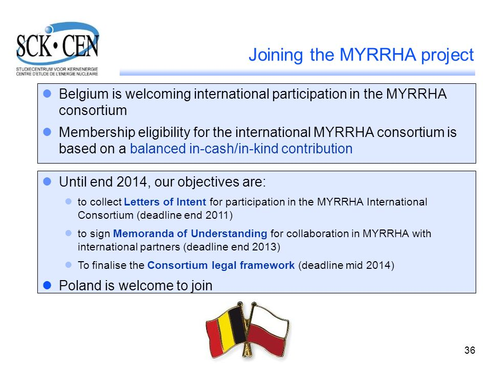 Joining the MYRRHA project