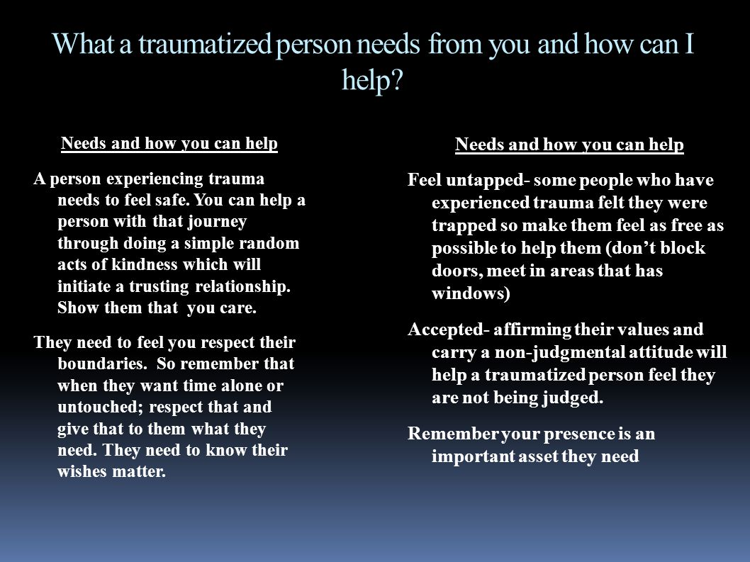 how to help a traumatized person