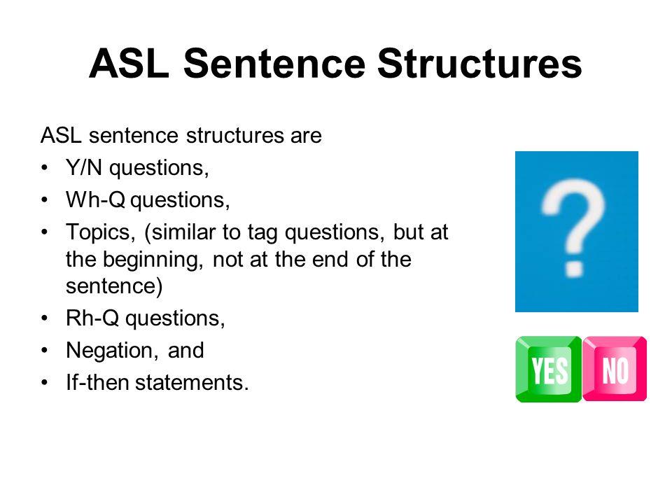 asl sentence structures
