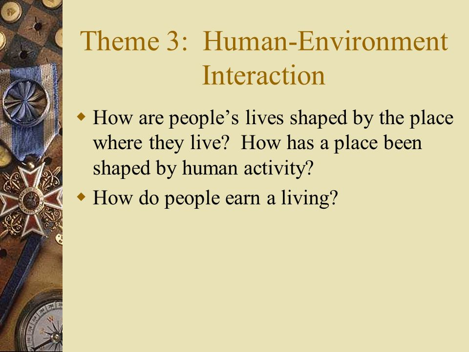 Theme 3: Human-Environment Interaction