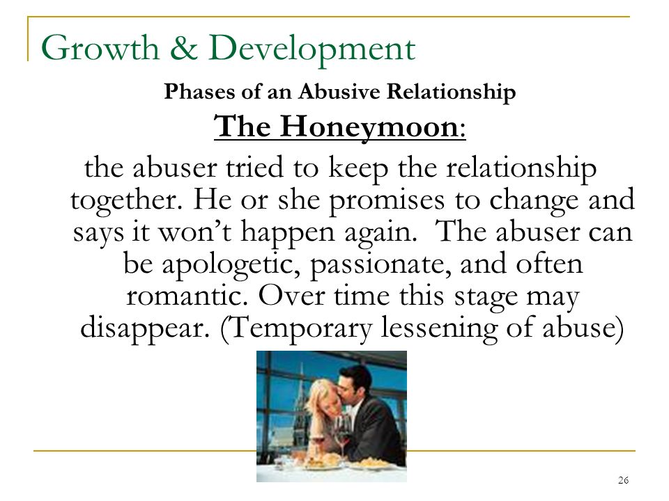 The Honeymoon Phase In Abuse Is __________