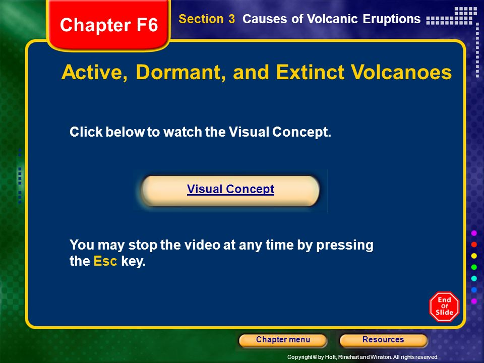 Volcanic Eruptions Chapter F6 - ppt video online download